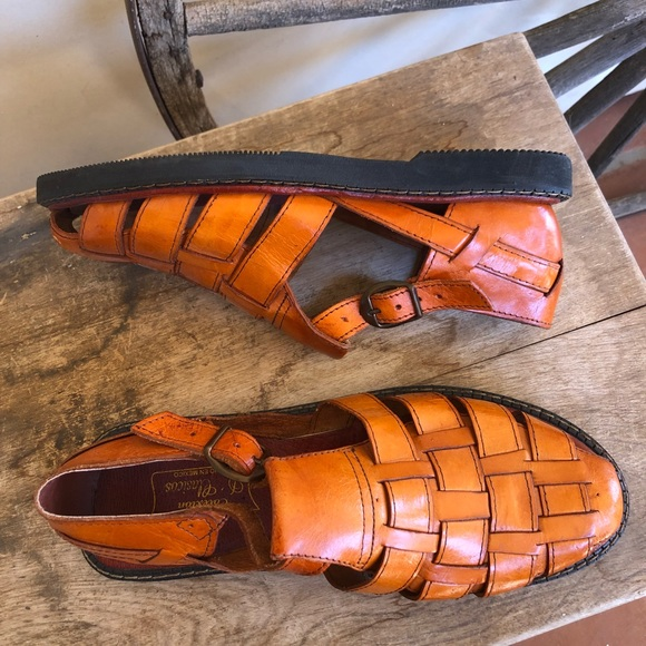 1aa8bcca3b79 CALEXION D'CLASICOS Huaraches Woven Leather Mexico NWT
